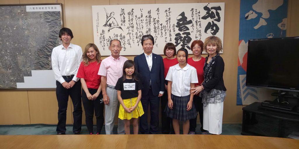 田中誠太八尾市長に表敬訪問させて頂きました。